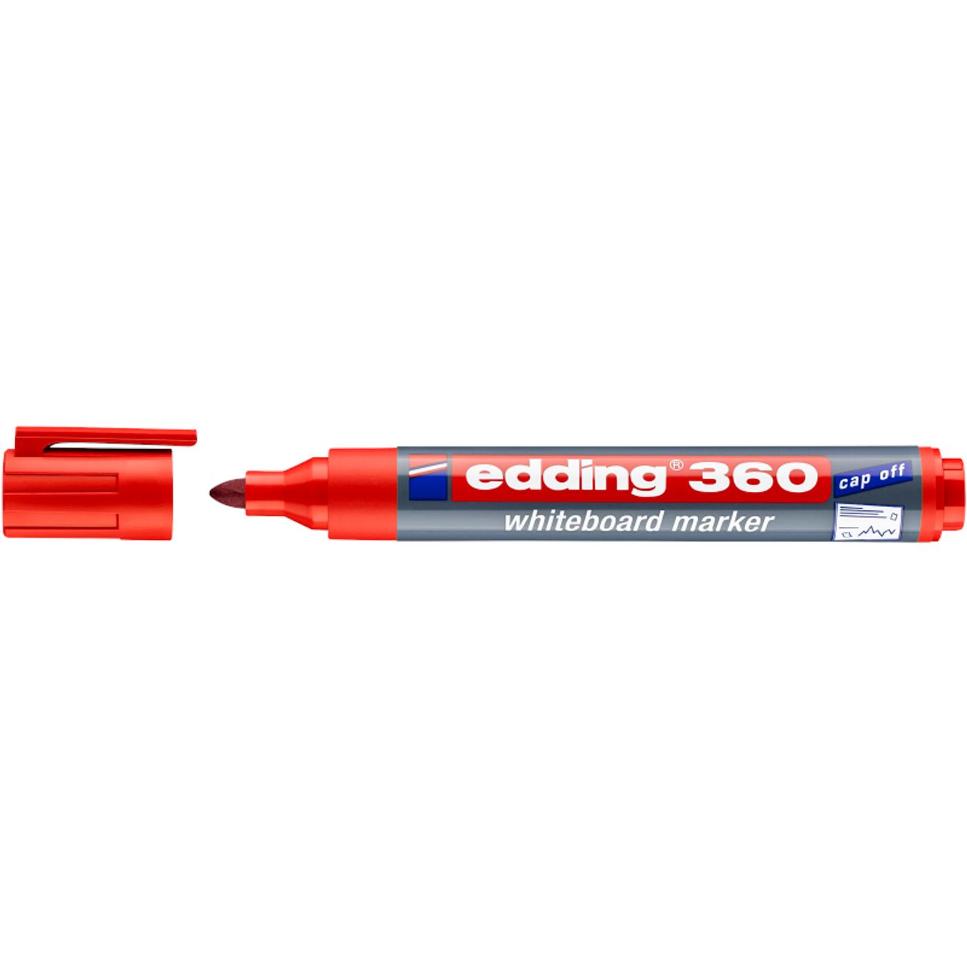 EDDING 360 WHITEBOARD MARKER (RED)