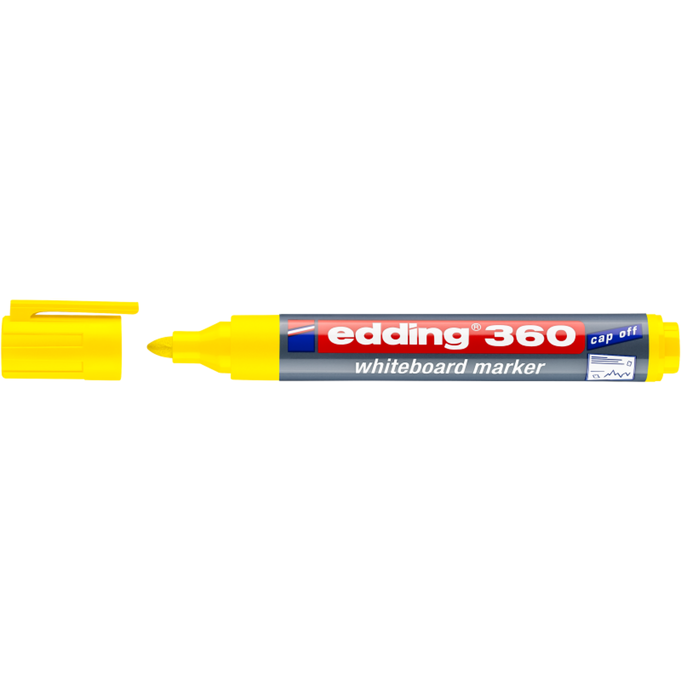 EDDING 360 WHITEBOARD MARKER (YELLOW)
