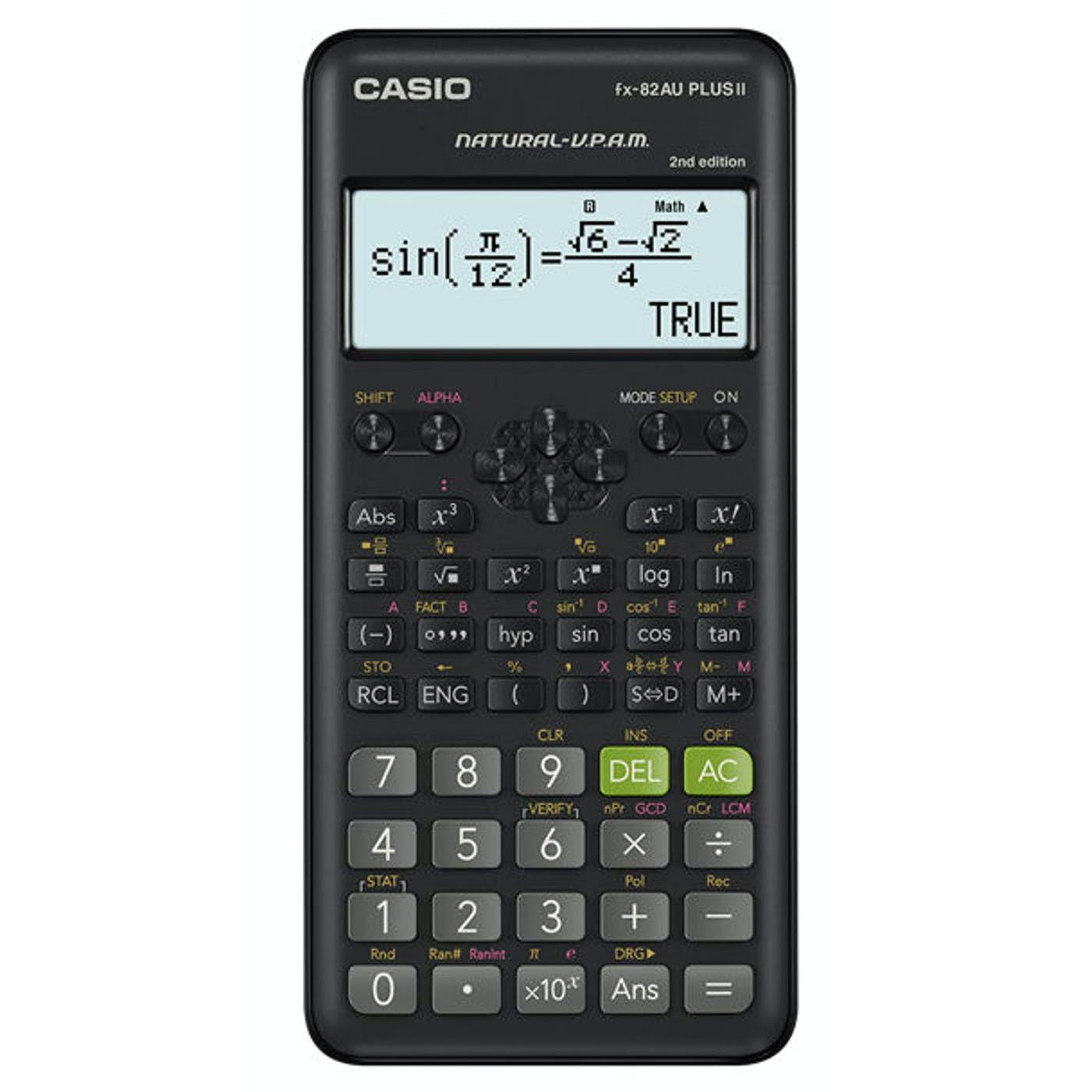 CASIO FX82AU PLUSII 2ND EDITION SCIENTIFIC CALCULATOR