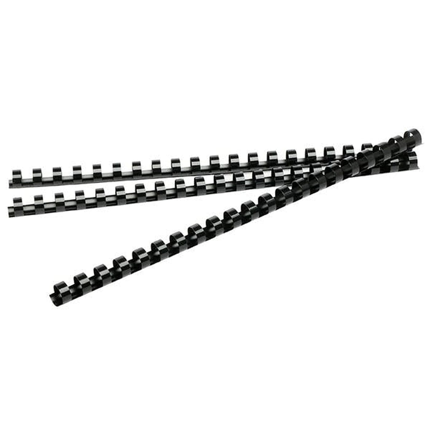 BINDING COILS 12MM (BLACK)  PKT 100