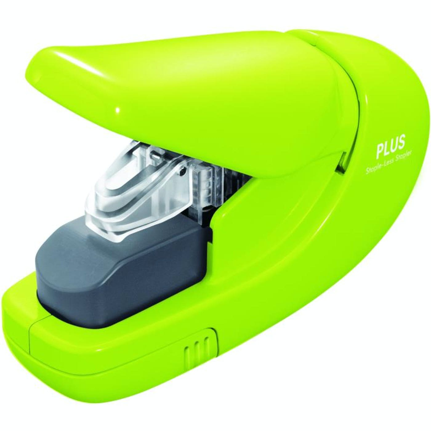 PLUS STAPLE-LESS STAPLER  (GREEN)