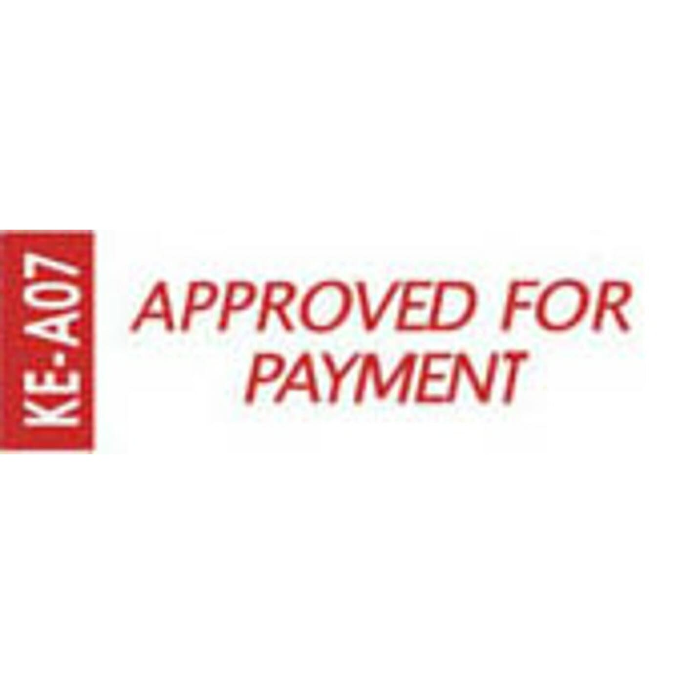 DESKMATE SELF-INKING STAMPS (APPROVED FOR PAYMENT - RED)