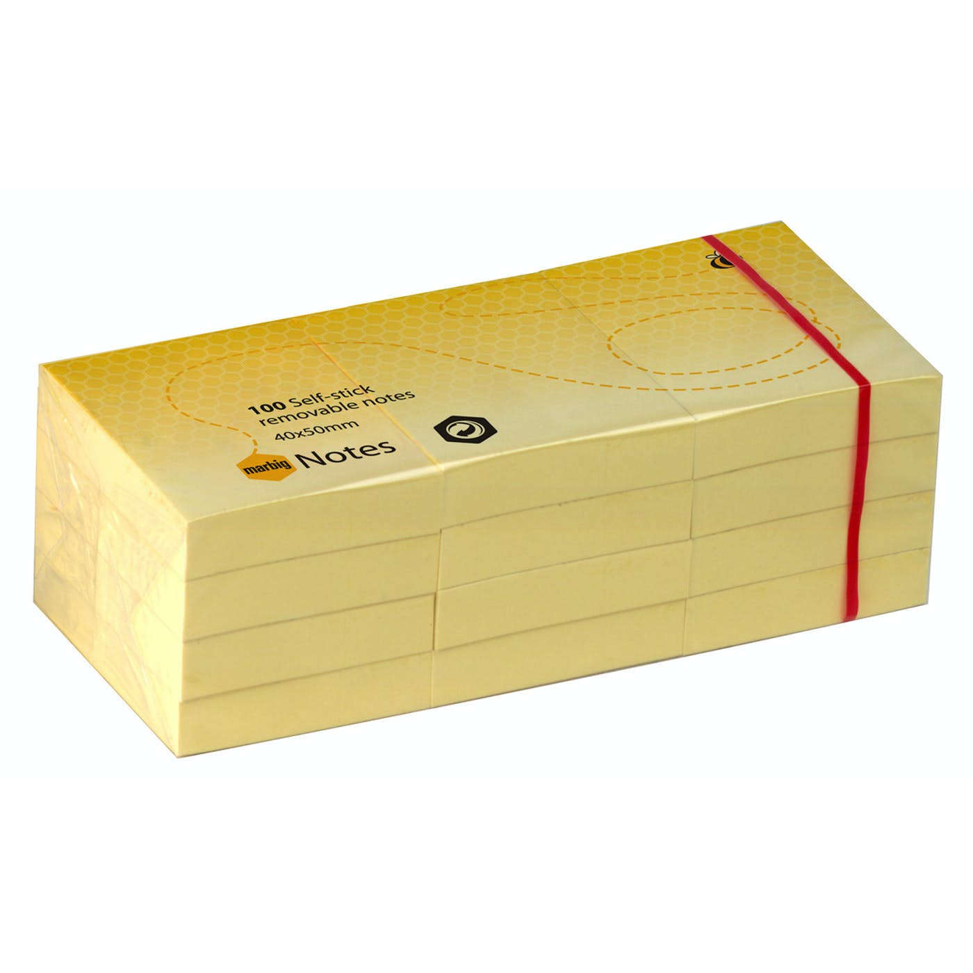Adhesive Notes 38 x 50mm  PKT 12 Yellow