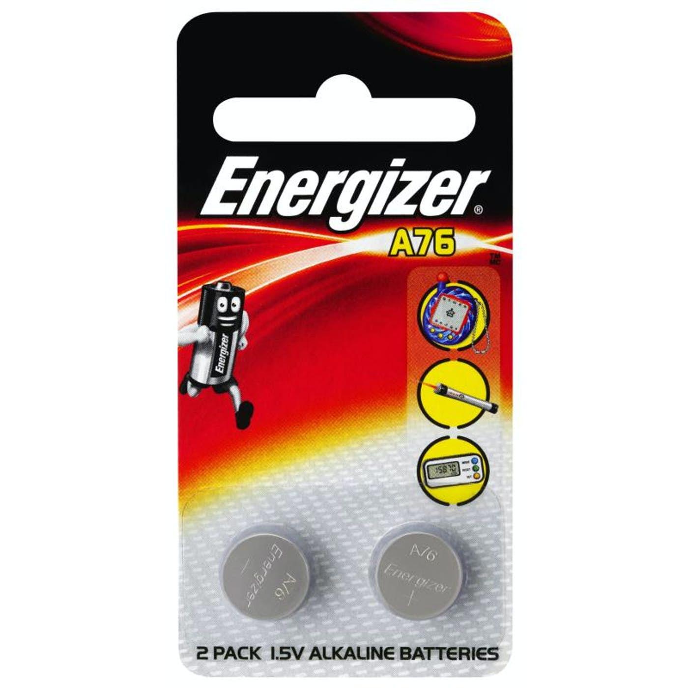 ENERGIZER A76 CALCULATOR BUTTON BATTERY  PKT 2