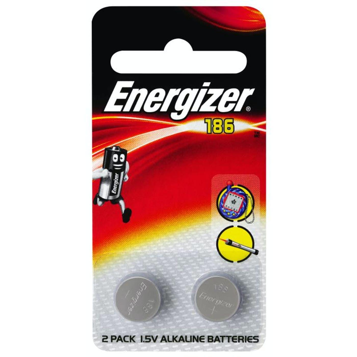ENERGIZER 186 CALCULATOR BUTTON BATTERY  PKT 2