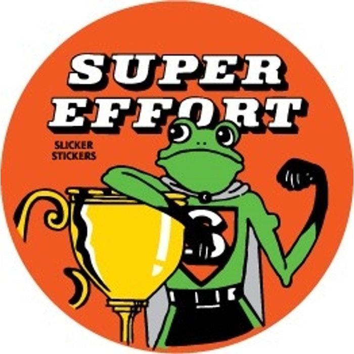 SUPER EFFORT STICKERS, PKT 50 FROG