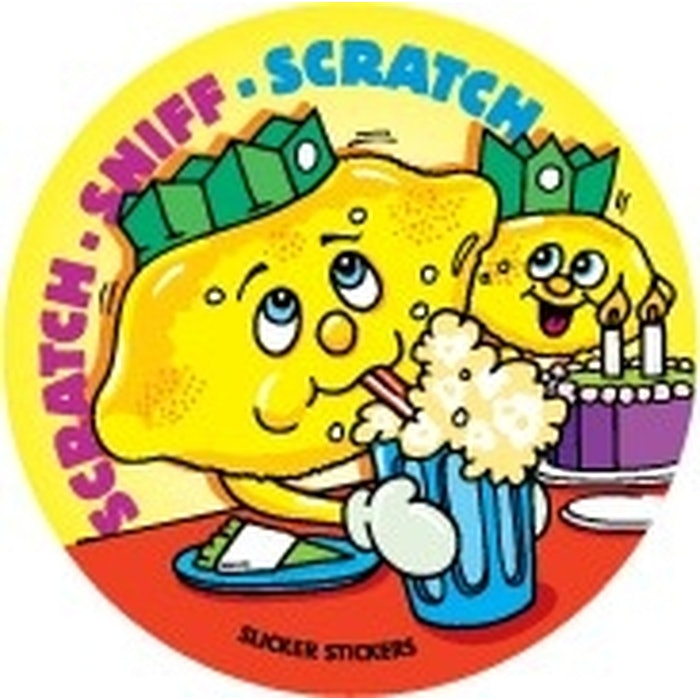 SCRATCH AND SNIFF STICKERS (LEMON), PKT 84