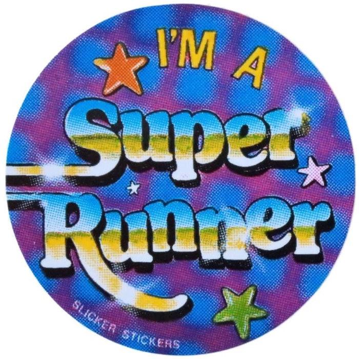 IM A SUPER RUNNER STICKERS, PKT 50