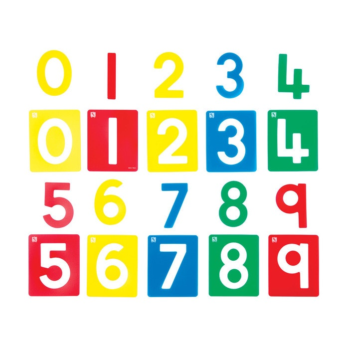 NUMBERS STENCIL SET OF 10