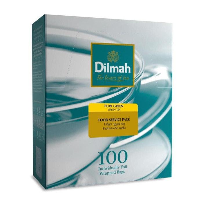 DILMAH GREEN TEA BAGS NATURAL, PKT 100