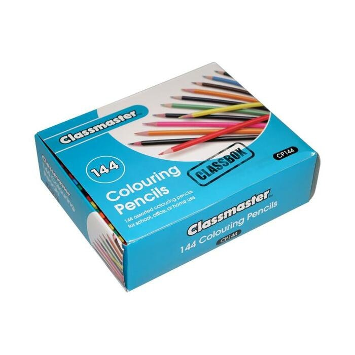 CLASSMASTER COLOURING PENCILS, BOX144