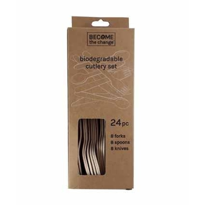 DISPOSABLE CUTLERY SET, PKT 24