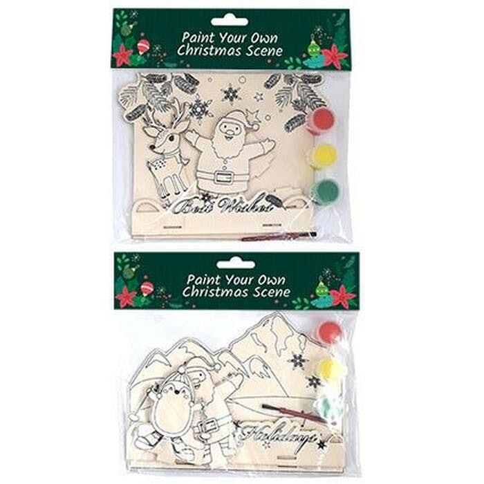 XMAS PAINT YOUR OWN SCENE - SET OF 2