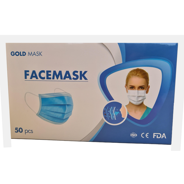 DISPOSABLE 4-PLY FACE MASK, BOX 50