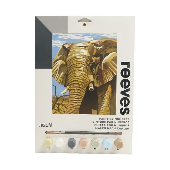 REEVES PAINT BY NUMBERS - ELEPHANT