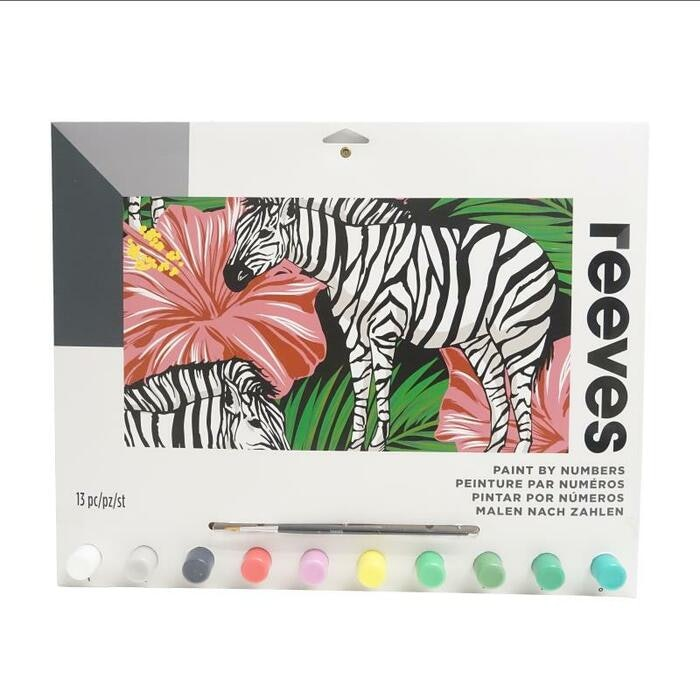 REEVES PAINT BY NUMBERS - ZEBRA