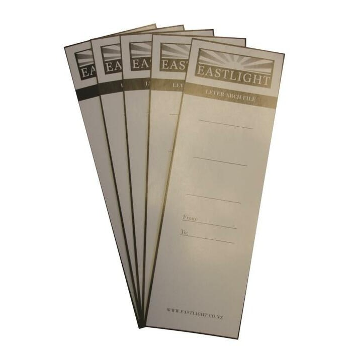 LEVER ARCH SPINE LABELS PKT 10