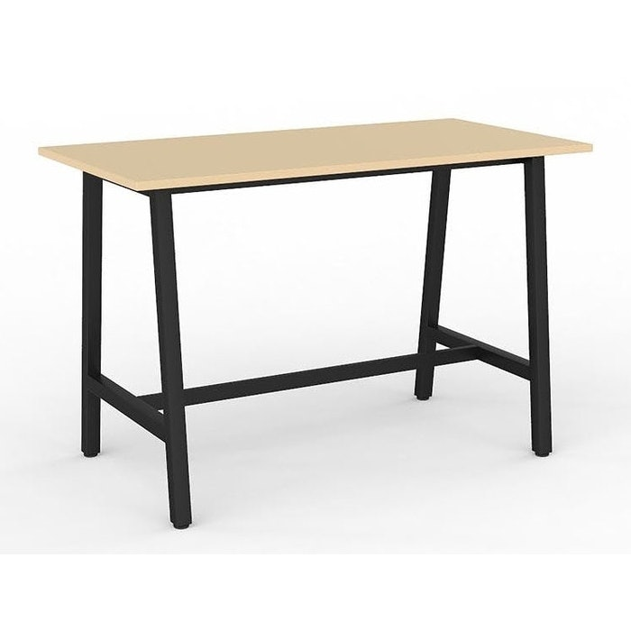 CUBIT BAR LEANER 1600 X 800MM - BLACK LEGS NORDIC MAPLE TOP