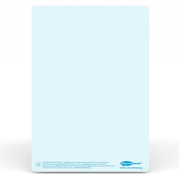 SHOW-ME TINTED BOARDS PLAIN (BLUE), PKT 5