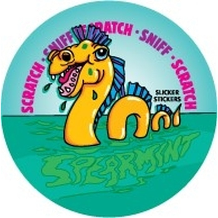 SCRATCH AND SNIFF STICKERS (SPEARMINT), PKT 84