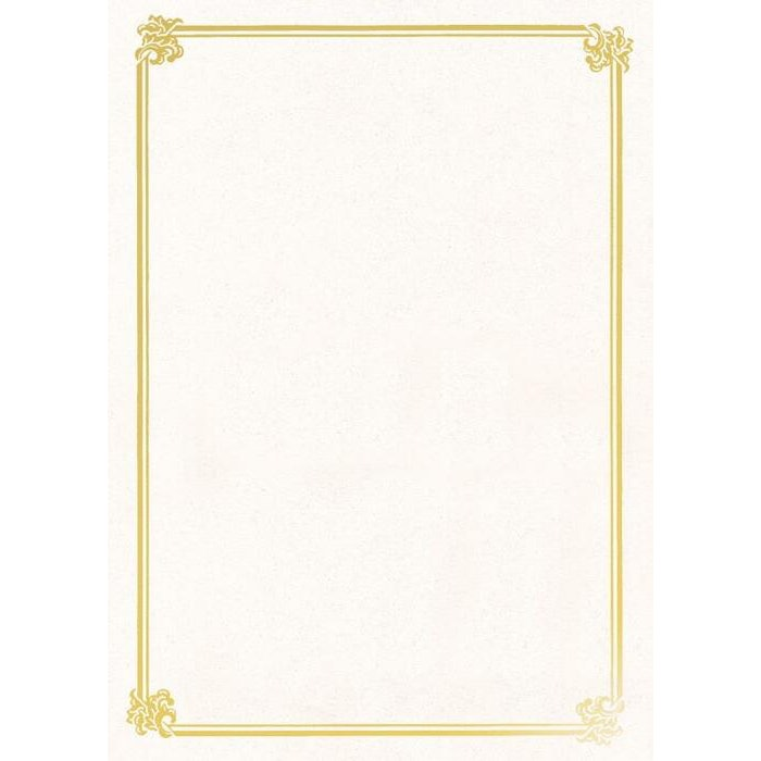 A4 TESTAMUR CERTIFICATE - GOLD FOIL ON WHITE TEXTURE