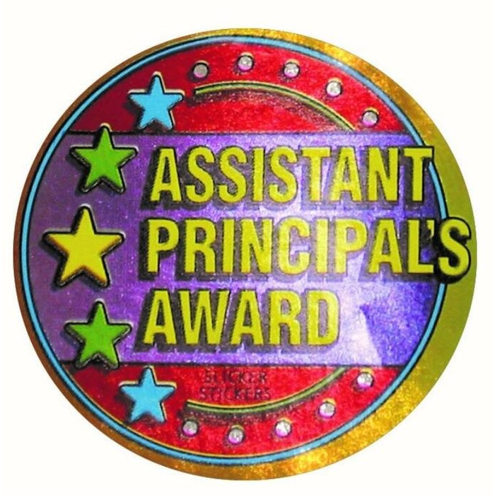 ASSISTANT PRINCIPALS AWARD MULTI PACK STICKERS, PKT 102