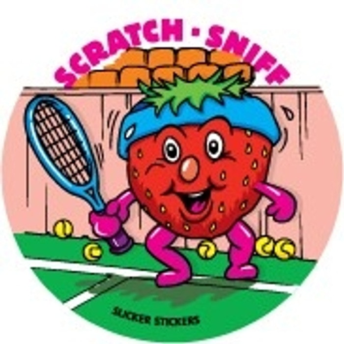 SCRATCH AND SNIFF STICKERS (STRAWBERRY), PKT 84