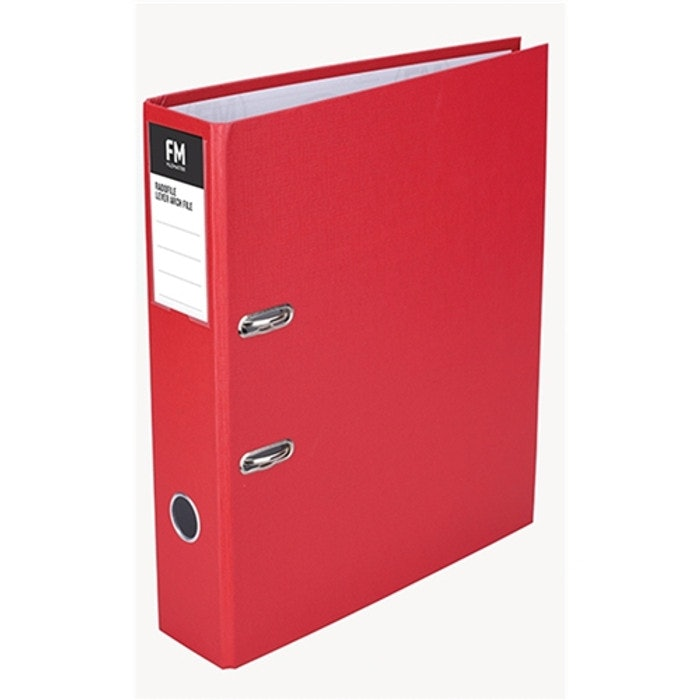 FM RADOFILE FOOLSCAP LEVER ARCH FILE (RED)