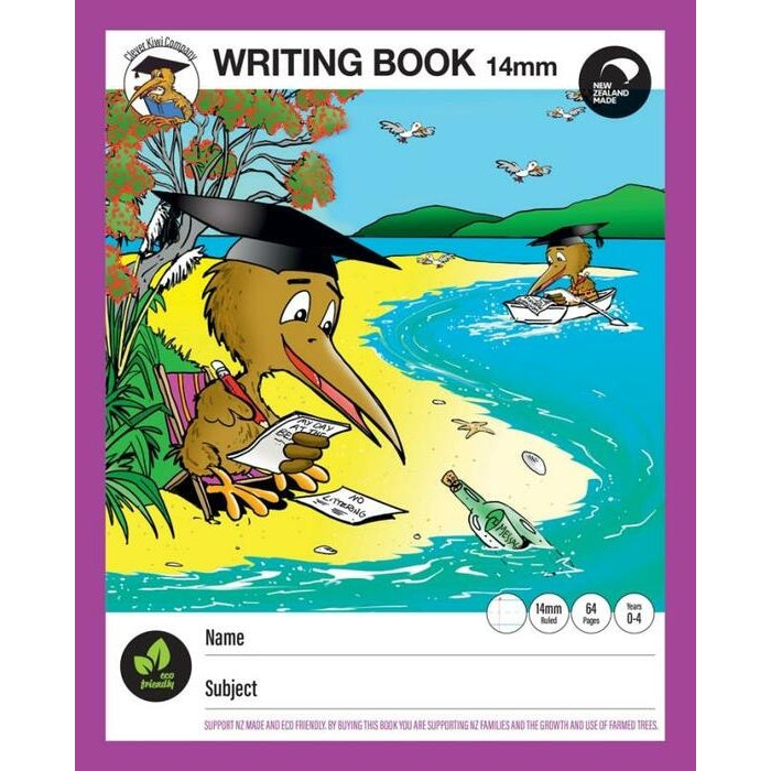 CLEVER KIWI WRITING BOOK 14MM