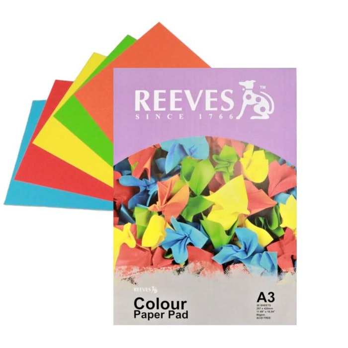 REEVES A3 COLOUR PAD 80GSM